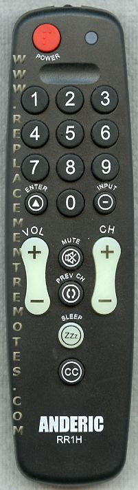ANDERIC RR1H Hospitality Remote Control 1-Device Universal Remote Control