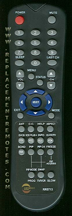 ANDERIC RR5713 for Hitachi TV Remote Control