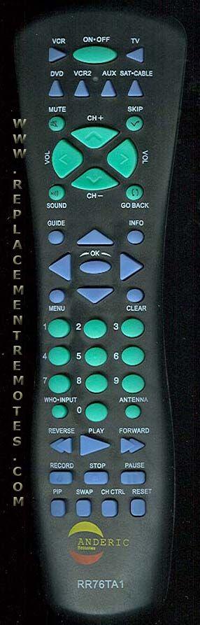 ANDERIC RR76TA1 for RCA Satellite Receiver Remote Control