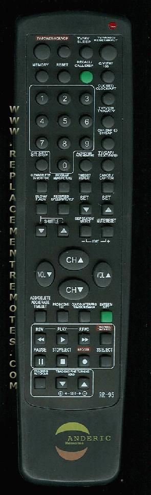 ANDERIC RR95 Emerson TV Remote Control