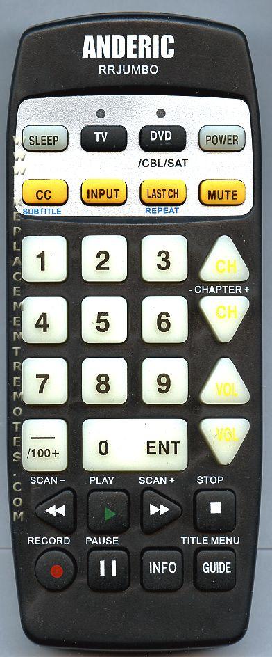 ANDERIC RRJUMBO 2-Device Universal