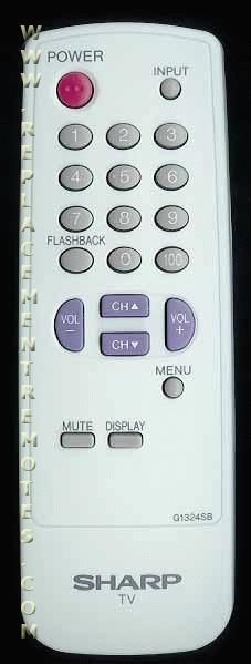 SHARP G1324SB TV Remote Control