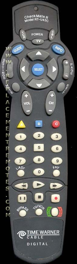 Buy SCIENTIFIC-ATLANTA RTU43C Cable Box Remote Control