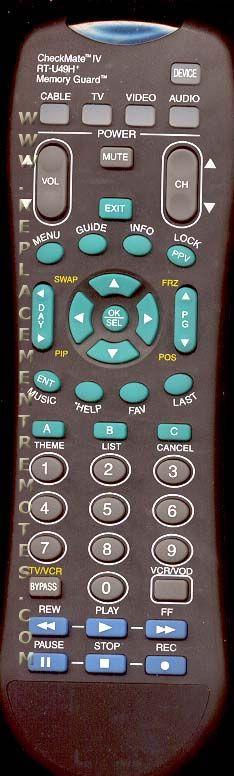 CHECKMATE RTU49H Remote Control