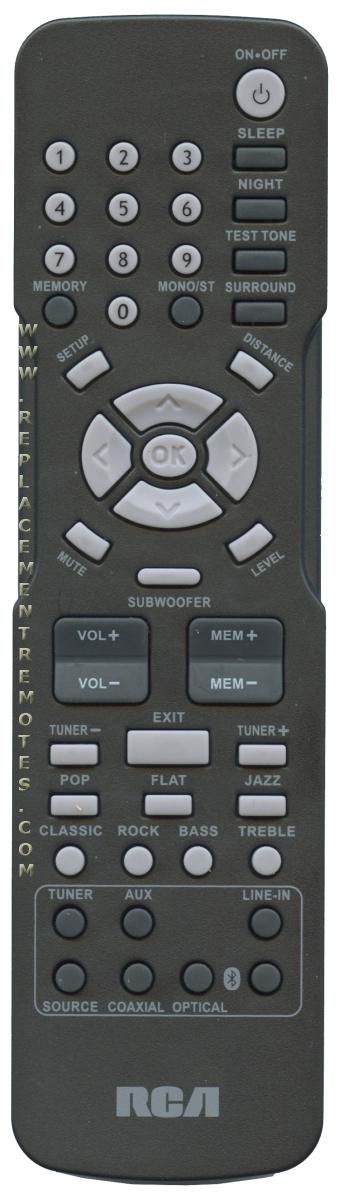 RCA RT2781BE Home Theater System Remote Control