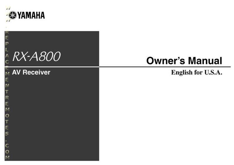 buy yamaha rxa800om rxa800 operating manual. Black Bedroom Furniture Sets. Home Design Ideas