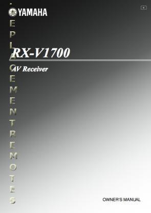 YAMAHA RXV1700OM Operating Manual