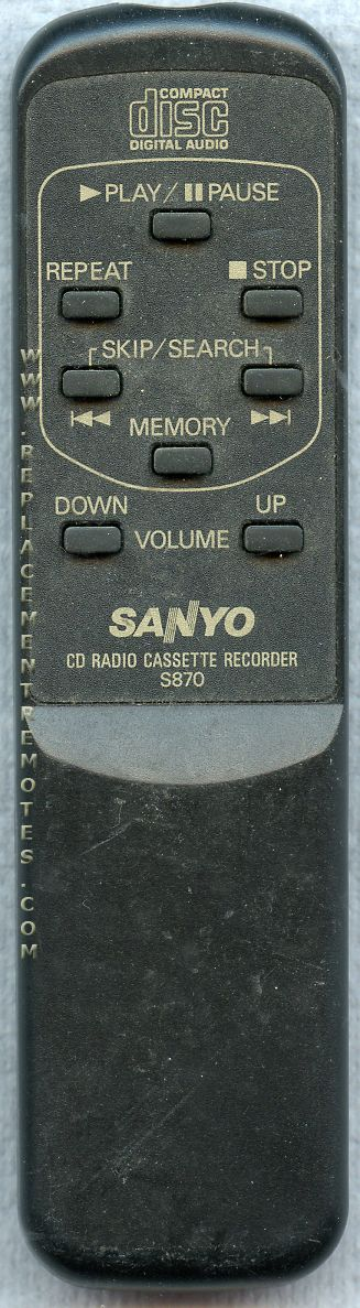SANYO S870 CD Player Remote Control