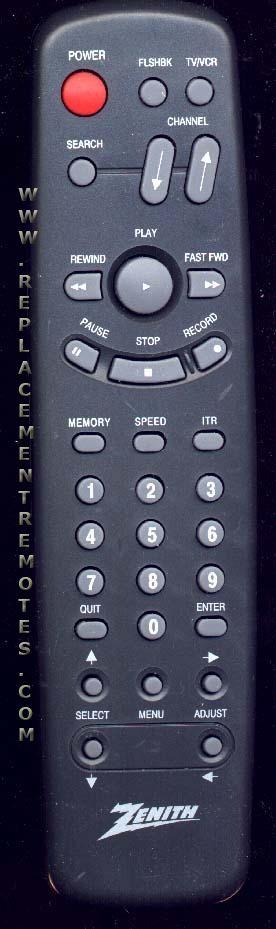 ZENITH SC2105 VCR Remote Control