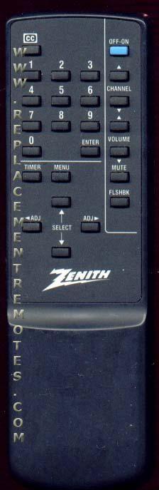 ZENITH SC3490 TV Remote Control