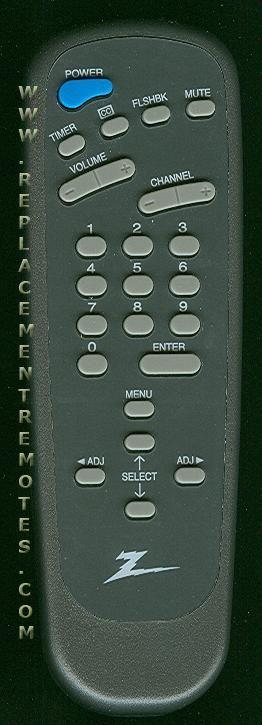 ZENITH SC3492 TV Remote Control
