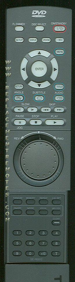 TOSHIBA SER0012 Remote Control