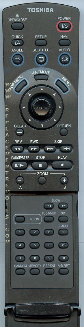 TOSHIBA SER0029 DVD Player Remote Control