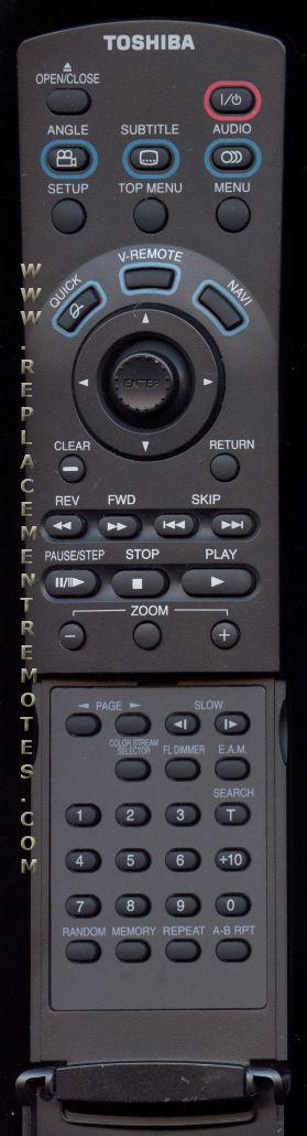TOSHIBA SER0050 DVD Player Remote Control