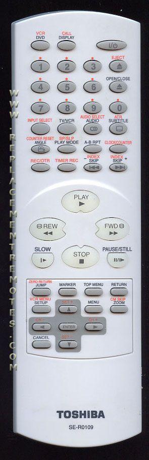 TOSHIBA SER0109 Remote Control