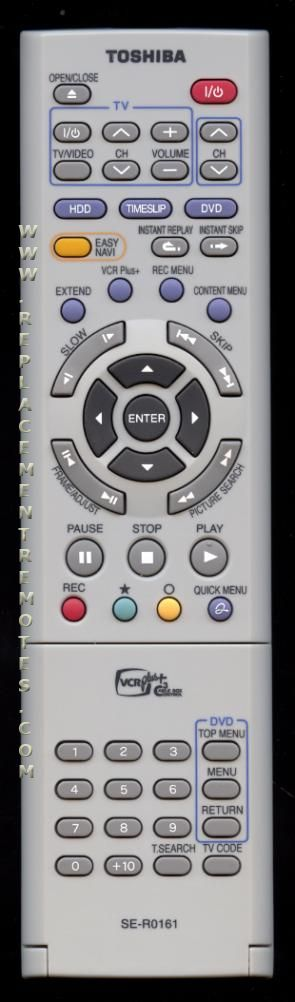 TOSHIBA SER0161 DVD Player Remote Control
