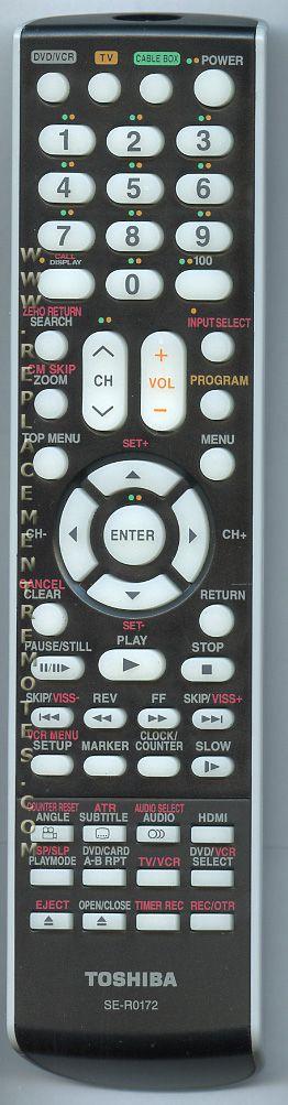 TOSHIBA SER0172 Remote Control