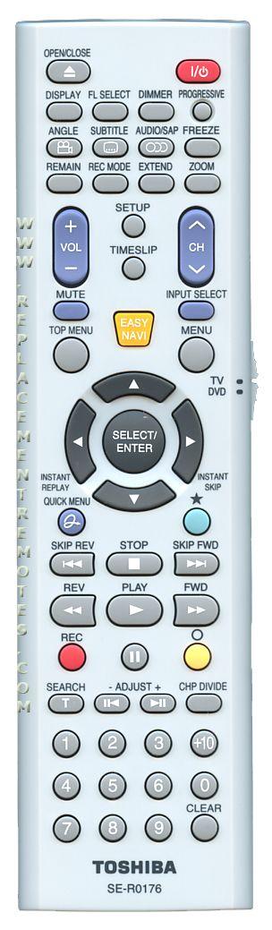 buy toshiba ser0176 79102904 digital video recorder dvr remote rh replacementremotes com toshiba se-r0176 manual Toshiba TV Owners Manual