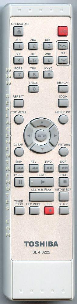 TOSHIBA P000457160 DVD Recorder (DVDR) Remote Control