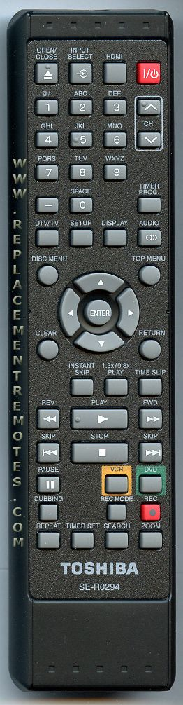 TOSHIBA SER0294 Digital Video Recorder (DVR) Remote Control