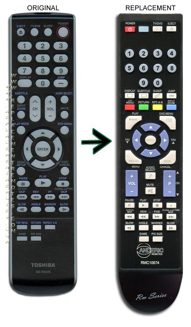 New Genuine Toshiba TV Remote Control DC-LWB1 for 15DLV77 B 17HLV85 19HLV87 A
