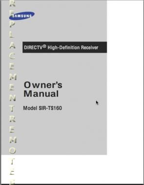 SAMSUNG SIRTS160OM Operating Manual