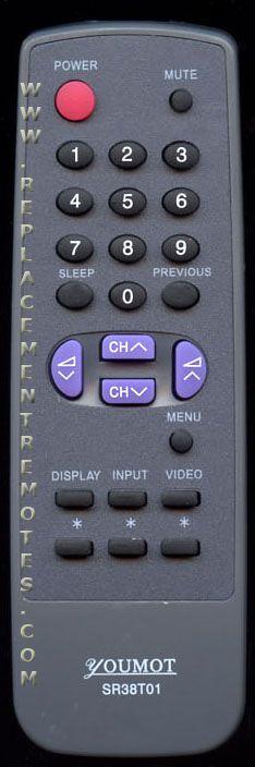 YOUMOT SR38T01 Remote Control