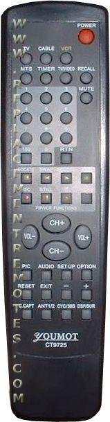 YOUMOT SR9725 Remote Control
