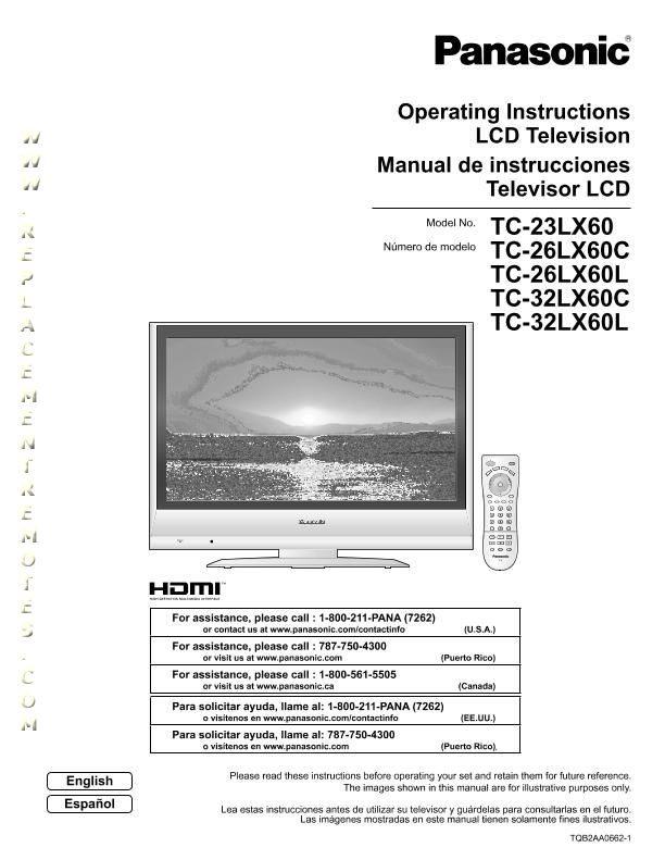Panasonic TC23LX60OM Operating Manual