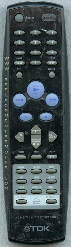 TDK TDK001 Remote Control