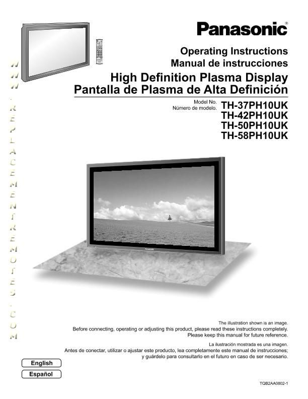 Panasonic TH37PH10UKOM Operating Manual