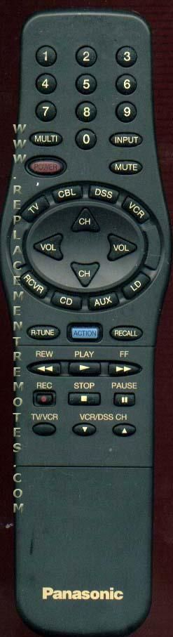 Panasonic TNQ2AE012 TV Remote Control