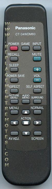 Panasonic CT34WDM60 Projector Remote Control