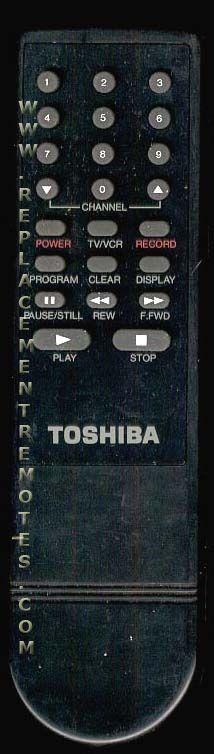 TOSHIBA TOSHIBA5 VCR Remote Control