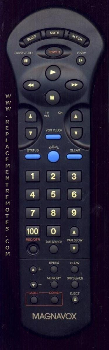 Magnavox TRT42SR006 VCR Remote Control