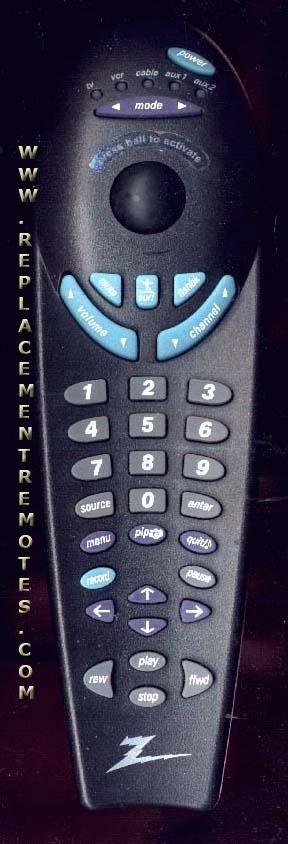 ZENITH TRK4000PT Remote Control