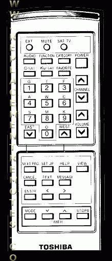 TOSHIBA TRX2000R Remote Control