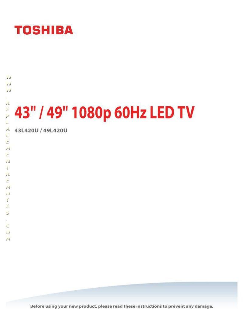TOSHIBA 55LED2160POM Operating Manual