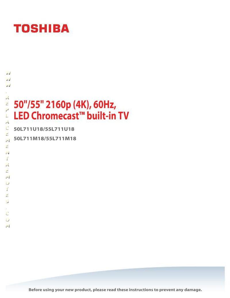 TOSHIBA 55L711U18OM Operating Manual