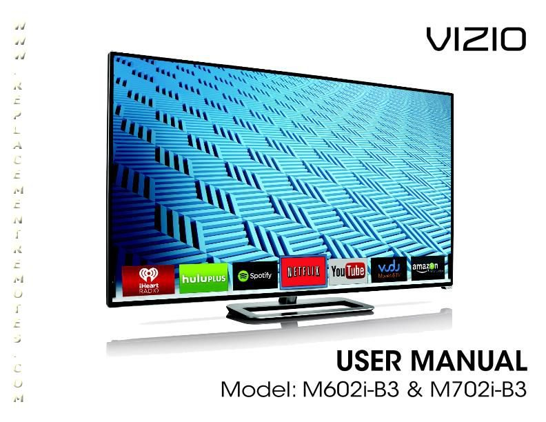 VIZIO M602iB3OM Operating Manual