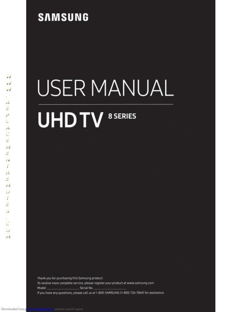 SAMSUNG UN65NU800DFXZAOM Operating Manual