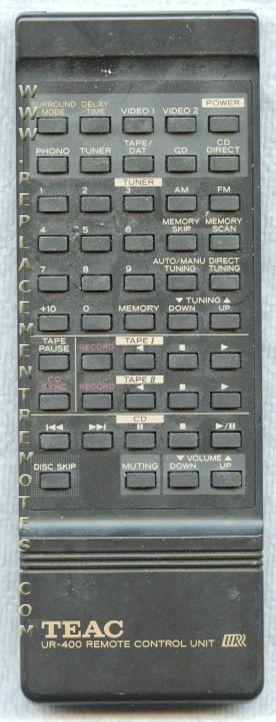 TEAC UR400 Audio/Video Receiver Remote Control