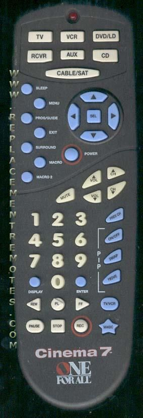 Buy One For All Urc7200 Urc7200b00 Remote Control
