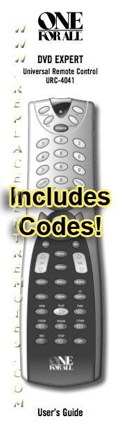URC4041 & Codes