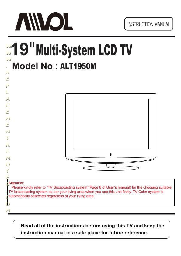 Buy Download Avol Alt1950mom Alt1950m Operating Manual