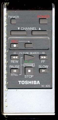 TOSHIBA VC42S VCR Remote Control
