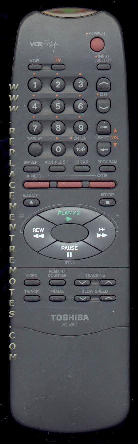 TOSHIBA VC459T VCR Remote Control