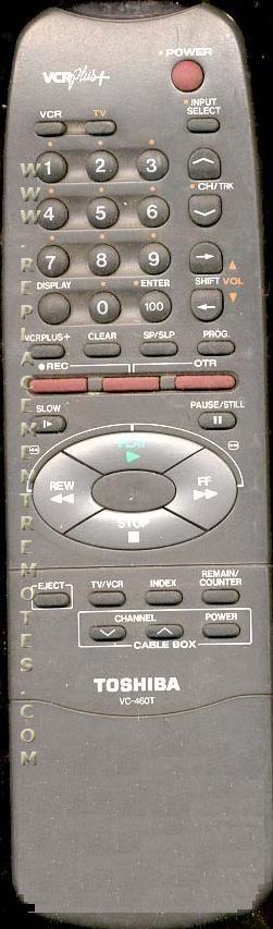 TOSHIBA VC460T VCR Remote Control