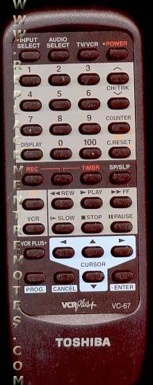 TOSHIBA VC67 Remote Control