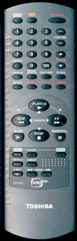 TOSHIBA VC745 VCR Remote Control